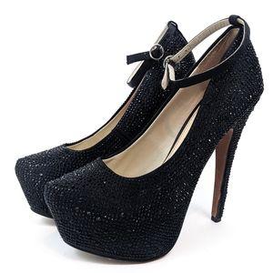 Betsey Johnson Ritzzz Rhinestone Stiletto Heels 6B